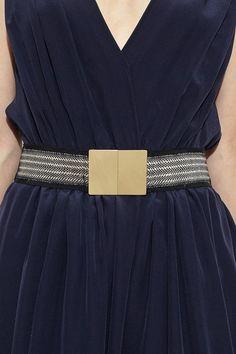 Black and Tan Stretch Belt by Giada Forte   shopheist.com