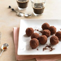 Grand Marnier gives these truffles a hint of orange flavor. Other liqueurs can be substituted.