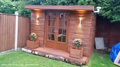 Roosters Cabin (PALLETS) -Cabin/Summerhouse from Nottingham owned by Jay Davies Shed Of The Year, Man Shed, Summer Houses, She Sheds, Roosters, Back Gardens, Nottingham, Pallet Ideas, Pallets