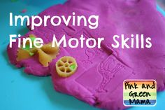 Improving Fine Motor Skills - Pink and Green Mama