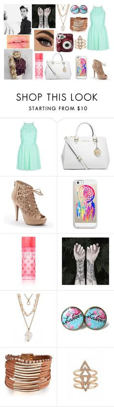 """""""Cam and I at a photoshoot"""" by jblover-1fan on Polyvore featuring New Look, MICHAEL Michael Kors, Apt. 9, Casetify, Victoria's Secret, Nature Girl, Panacea and Polaroid"""