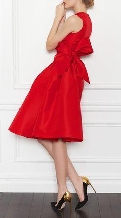 Red bow dress / Carolina Herrera