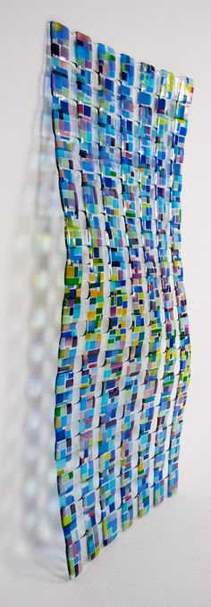 "glass wall sculpture "" Retro Mesh"""