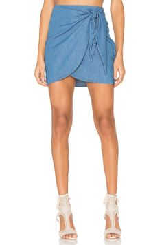 0dc7d8b6dd The Fifth Label Odyssey Skirt in Washed Out Indigo Revolve Clothing, Denim  Skirt, Mini