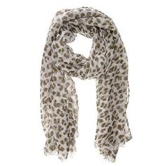 Leopard Olive Scarf