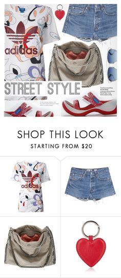 """Street Style"" by regettacanoe ❤ liked on Polyvore featuring adidas Originals, RE/DONE, STELLA McCARTNEY, Barneys New York, Christian Dior, polyvoreeditorial and polyvoreset"
