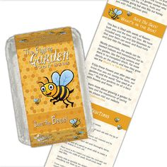 Our Save the Bees Kit is filled with flower seeds for a perfect pollinator garden. Available through the Gardening With Kids Shop.