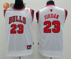 2ccd2fe0e25586 Canotte nba Bambino Chicago Bulls Michael Jordan #23 bianco Basket Pas  Cher, Jordan 23