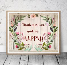 Positive Quote Printable Art Inspirational quote by MSdesignart