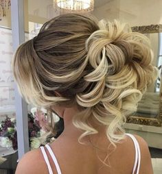 Classic curly updo wedding hairstyle; Featured Hairstyle: ElStyle