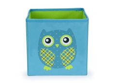 Owl Storage Box - Small Blue/Green-owl storage box container system blue small green