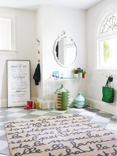 If this entryway is any indication of the rest of the home, we're sold! #hgtvmagazine http://www.hgtv.com/decorating-basics/the-house-of-easy-to-imitate-ideas/pictures/page-8.html?soc=pinterest