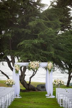 Outdoor wedding ceremony overlooking the Pacific ocean. // Redondo Beach Historic Library Real Wedding | Zoom Theory Photography
