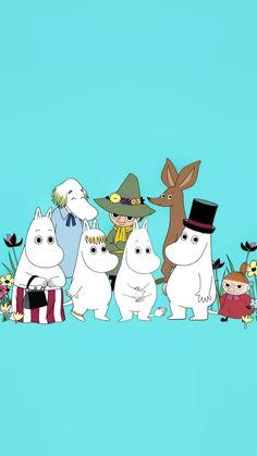 Moomin Wallpaper, Cartoon Hippo, Moomin Mugs, Moomin Valley, Tove Jansson, Cartoon Images, Ghibli, Cartoons, Kawaii