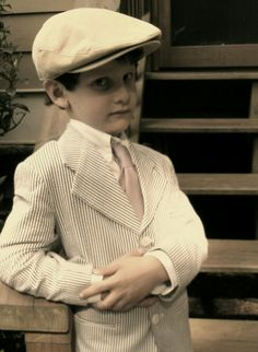 My 6 Year Old's self-chosen outfit for Picture Day at school. 1920s Great Gatsby style for kids.