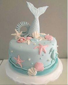 Beautiful mermaid tail cake