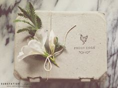 Fresh Eggs Stamp Chicken Stamp Egg Carton by SubstationPaperie