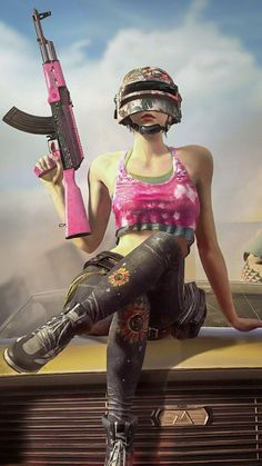 PUBG Girl With Gun Helmet Free Pure Ultra HD Mobile Wallpaper - Best of Wallpapers for Andriod and ios Wallpapers Android, Mobile Wallpaper Android, Android Phone Wallpaper, Mobile Legend Wallpaper, Gaming Wallpapers, Cartoon Wallpaper, Android Phones, Laptop Wallpaper, Hd Cute Wallpapers
