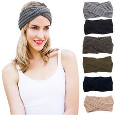 1 PC Solide Femmes Lady Crochet Turban Tricoté Tête Wrap Bandeaux D'hiver Warmer Bandeaux Nouvelle Arrivée Cheveux Bandes Accessoires 2017
