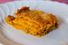 Lasagne con zucca e salsiccia ricetta