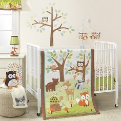 Amazon.com : Bedtime Originals Friendly Forest Woodland, 3 Piece Bedding Set, Green/Brown : Baby