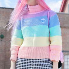 cute outfits to wear Pastel Fashion, Kawaii Fashion, Cute Fashion, Rainbow Fashion, Fashion Black, Fashion Fashion, Fashion Ideas, Vintage Fashion, Aesthetic Vintage
