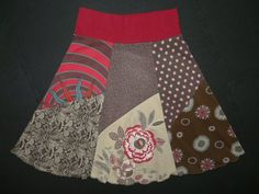 Recycled t-shirt skirt!