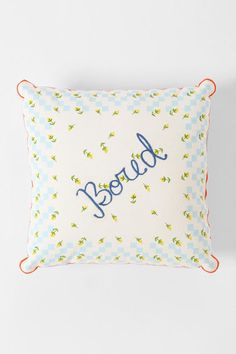 Plum & Bow Bored Hanky Pillow #urbanoutfitters #apartment