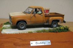 Dodge 4X4 Power Wagon 1/25 Scale Model driver figures just add a little extra to scale models.
