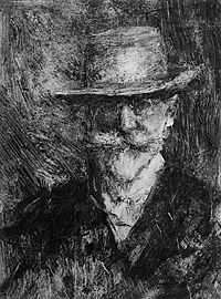 Self-Portrait, William Merritt Chase monoprint Print, Drawings, Self Portrait, Male Portrait, Painting, Figure Drawing, Monoprint, Artwork