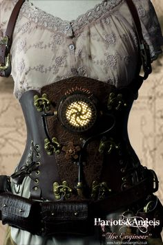 be-unmissable-steampunk-engineer-corset-- love the addition of pouches to corset bottom