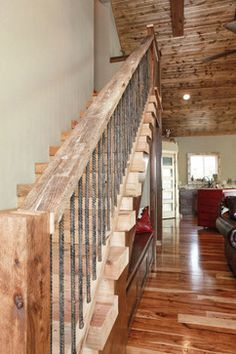 Rebar railing design ideas, pictures, remodel and decor loft stairs, basement stairs, Rebar Railing, Staircase Railings, Loft Stairs, Stairways, Basement Stairs, Banisters, Railing Design, Staircase Design, Staircase Ideas