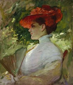 File:Frank Duveneck - Lady with a Red Hat (Portrait of Maggie Wilson, c.1904).jpg