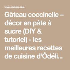 Gâteau coccinelle – décor en pâte à sucre (DIY & tutoriel) - les meilleures recettes de cuisine d'Ôdélices