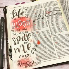 Find Rebecca's designs in our Shop! with Find Rebecca's designs in our Shop! with Leviticus — the reminded me that in OT times blood had to be spilled to atone… Continue Reading → Scripture Art, Bible Art, Book Art, Bible Verses, Bible Quotes, Get Closer To God, Lamentations, Bible Prayers, Illustrated Faith