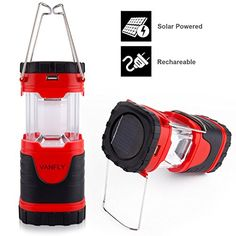 Camping Lights Collapsible LED Camping Lanterns Solar USB Rechargeable Camping Light 180 Lumen Emergency lights Outdoor Survival Lamp Camping Tent Lights For Camping Hiking Fishing Emergency Outages -- Click image to review more details.