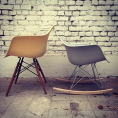 1000 images about l 39 univers meubles design meubles design - Chaise eames a bascule ...