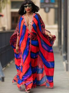 Gita Pants She visited Morocco seven years ago and she decided to pack her bags and move there, she hasn't l African Print Dresses, African Wear, African Attire, African Fashion Dresses, African Dress, Ankara Fashion, African Prints, African Style, African Fabric