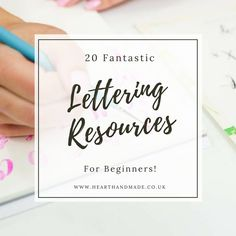 Learn how to hand letter with some of these resources. Choose between free or paid for resources and practice like crazy.