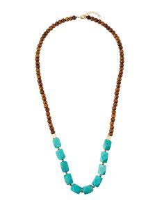 Panacea Beaded Howlite Tassel Necklace acPmXu