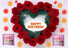 Red roses and heart birthday celebration. The post Happy Birthday & hearts, red roses & Happy Birthday Cards appeared first on Happy birthday . Happy Birthday Wishes Song, Happy Birthday Hearts, Birthday Wishes For Kids, Happy Birthday Video, Cute Happy Birthday, Happy Birthday Celebration, Birthday Blessings, Happy Birthday Pictures, Happy Birthday Messages