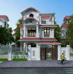 Mẫu thiết kế nhà phố 5,5m x 5 tầng House Outer Design, Home Fashion, Home Projects, House Plans, Mansions, House Styles, Home Decor, Houses, Buildings