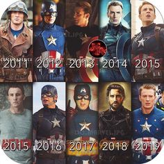 The evolution of CAPTAIN AMERICA throughout the MCU!
