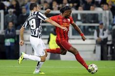 Didier Drogba - 02.10.2013 - Champions League - Juventus: 2 - Galatasaray : 2 Good Heart, Champions League, Running, Sports, Hs Sports, Keep Running, Why I Run, Sport