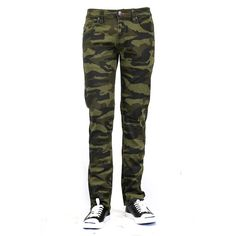 9423fec63a7f Bleu Evolution MEN S CAMO PRINT SKINNY JEANS - GREEN ( 38) ❤ liked on  Polyvore