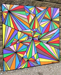 Geometric Patterns, Summer School, Art Classroom, Stretched Canvas, Art Projects, Art Drawings, Crafts For Kids, Bullet Journal, Signs