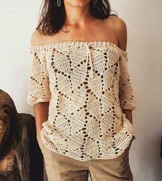 Crochet Skirts, Crochet Cardigan, Diy Crochet, Crochet Clothes, Crochet Baby, Crochet Top, Crochet Stitches, Crochet Patterns, Fillet Crochet