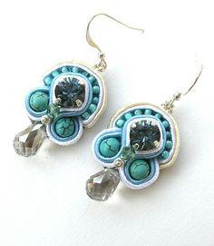 #Turqouise soutache earrings
