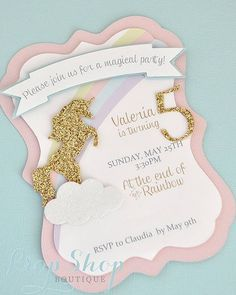 Invitation glitter