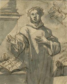 Lorenzo De Caro, attribuito a, Penna e inchiostro bruno, pennello e inchiostro sepia